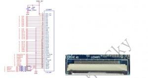 E8 40 PIN LCD